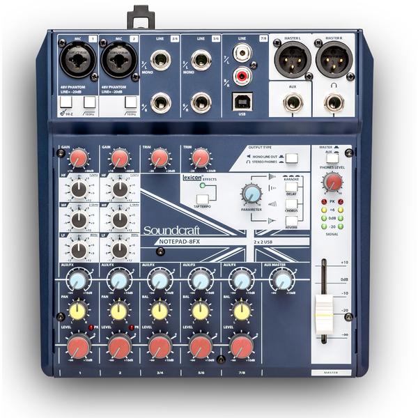 Аналоговый микшерный пульт Soundcraft Notepad-8FX аналоговый микшерный пульт soundcraft signature 12