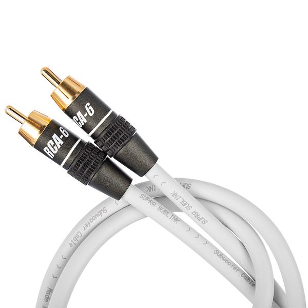 Кабель для сабвуфера Supra Sublink White 8 m кабель для сабвуфера supra sublink rca light blue 12 m