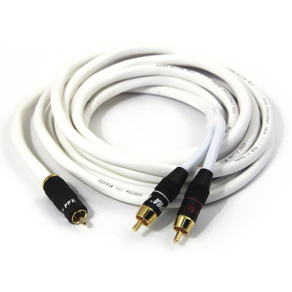 Кабель для сабвуфера Supra Y-Link RCA White 15 m кабель для сабвуфера supra y link rca light blue 8 m
