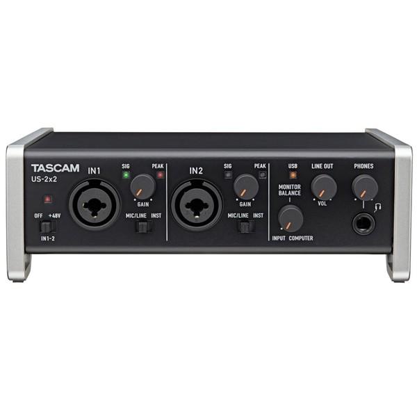 Внешняя студийная звуковая карта TASCAM US-2x2 звуковая карта tascam us 125m
