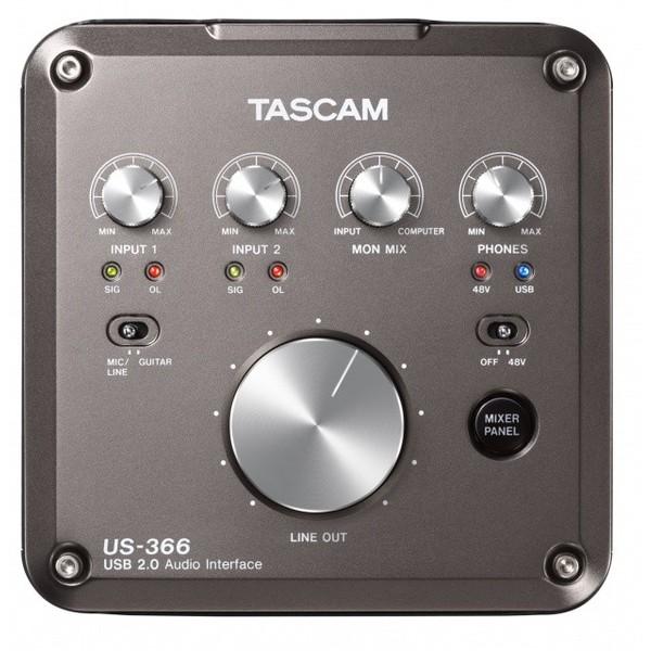 Внешняя студийная звуковая карта TASCAM US-366 звуковая карта tascam us 125m