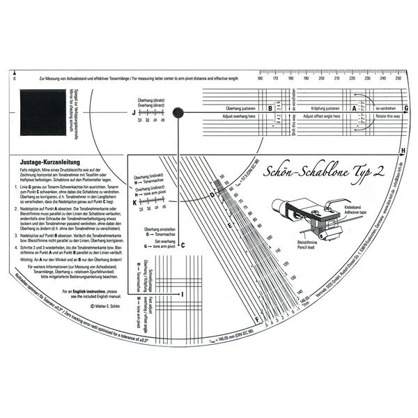 Товар (аксессуар для винила) Tonar Шаблон для настройки картриджа Schablone (1 шт.) шаблон для презентации fashion