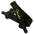 Ремень для гитары Fender Black Strap/Yellow Logo