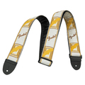 Ремень для гитары Fender Monogrammed Strap White/Brown/Yellow