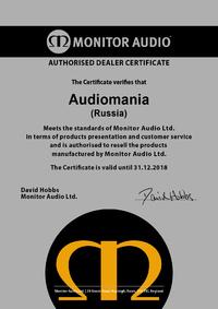 Сертификат дилера Monitor Audio