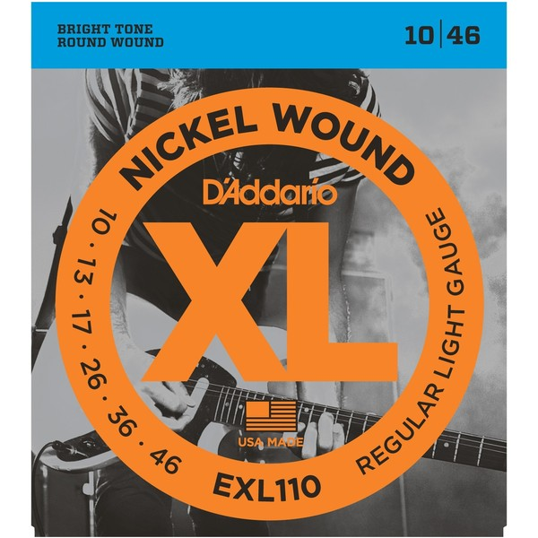 Гитарные струны D'Addario ESXL110 (для электрогитары) струны для электрогитары d addario exp120 coated 9 42