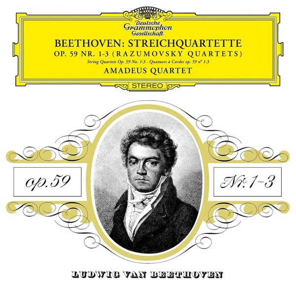 Beethoven BeethovenAmadeus Quartet - : String Quartet Nos. 1, 2, 3, 7, 8 (2 LP) e lambert string quartet no 3