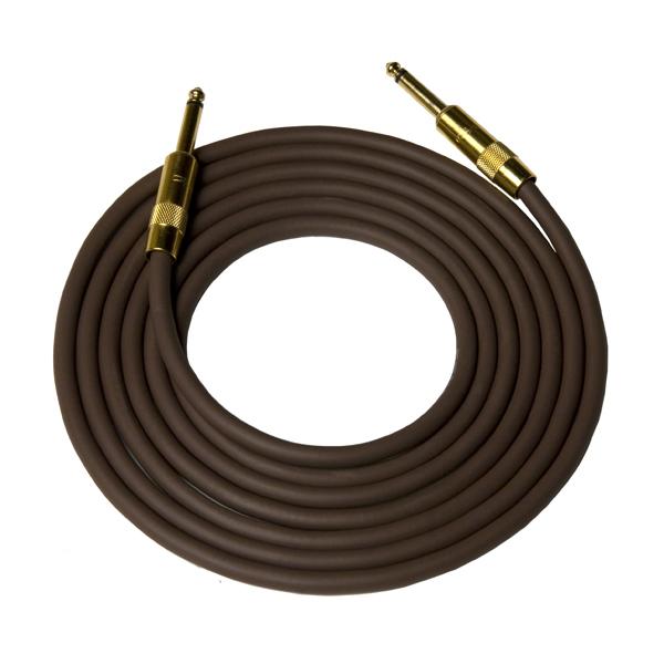 Кабель гитарный Analysis-Plus Dark Chocolate G&H Plug Gold 4 m (прямой/прямой)