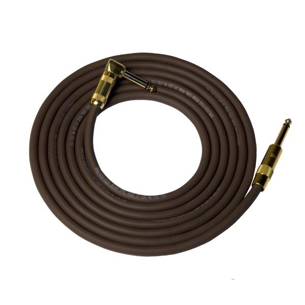 Кабель гитарный Analysis-Plus Dark Chocolate G&H Plug Gold 6 m (прямой/угловой)