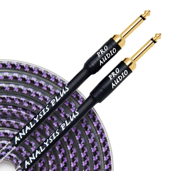 Кабель гитарный Analysis-Plus Pro Oval Studio G&H Plug Gold 4 m (прямой/прямой)