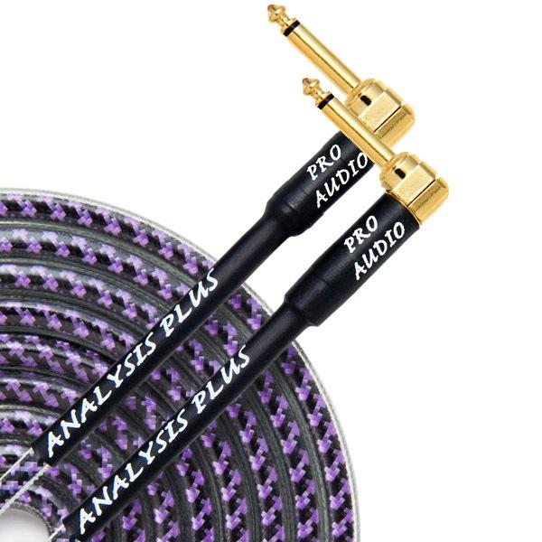 Кабель гитарный Analysis-Plus Pro Oval Studio G&H Plug Gold 3 m (угловой/угловой)