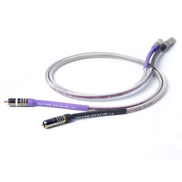 Кабель межблочный аналоговый RCA Analysis-Plus Silver Oval-in 0.5 m