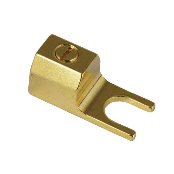 Разъем акустический типа лопатка Analysis-Plus T1 Spade Gold