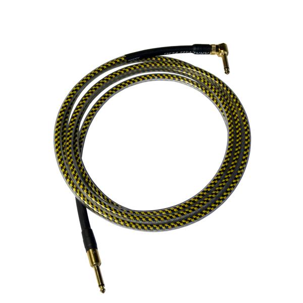 Кабель гитарный Analysis-Plus Yellow Oval G&H Plug Gold 3 m (прямой/угловой)