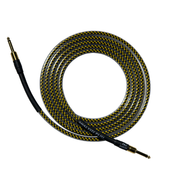 Кабель гитарный Analysis-Plus Yellow Oval G&H Plug Gold 10 m (прямой/прямой)