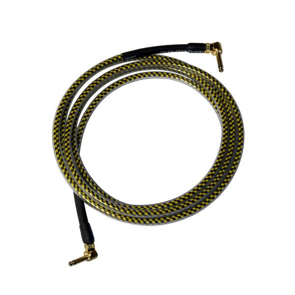 Кабель гитарный Analysis-Plus Yellow Oval G&H Plug Gold 3 m (угловой/угловой)