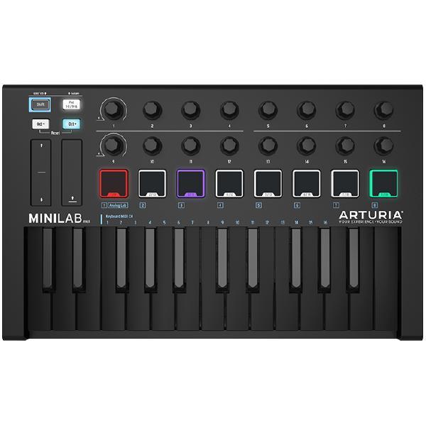 MIDI-клавиатура Arturia MiniLab mkII Deep Black Edition midi клавиатура arturia keylab essential 61 mci55703 черный