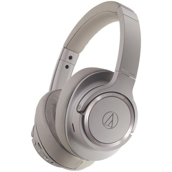 лучшая цена Беспроводные наушники Audio-Technica ATH-SR50BT Beige