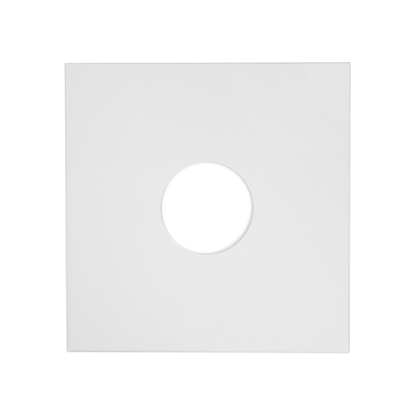 Конверт для виниловых пластинок Audiocore 10 Paper Cover Hole Record Sleeve White (1 шт.) (внешний)