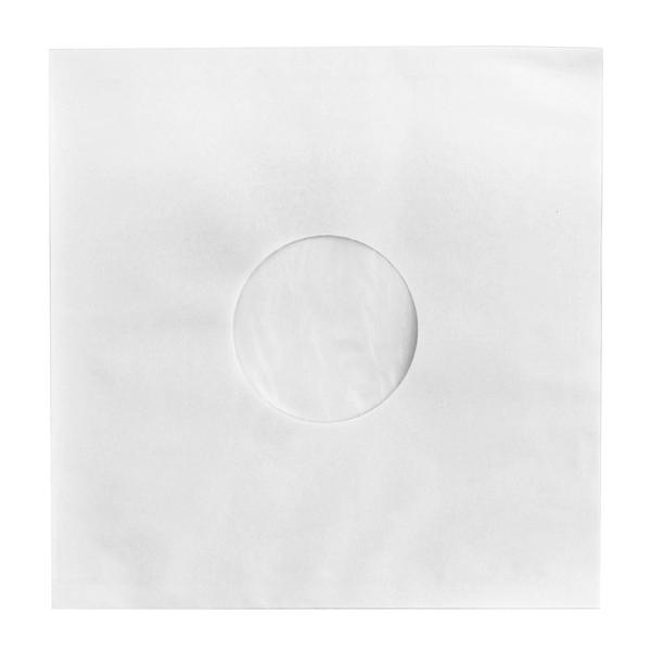 Конверт для виниловых пластинок Audiocore 12 Paper Record Hole Sleeve Inside Deluxe Antistatic Matt White (1 шт.) (внутренний)