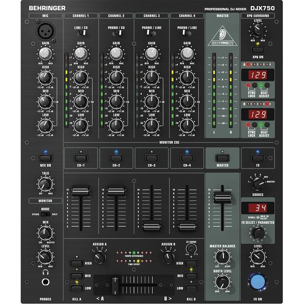 DJ микшерный пульт Behringer DJX750 цена и фото