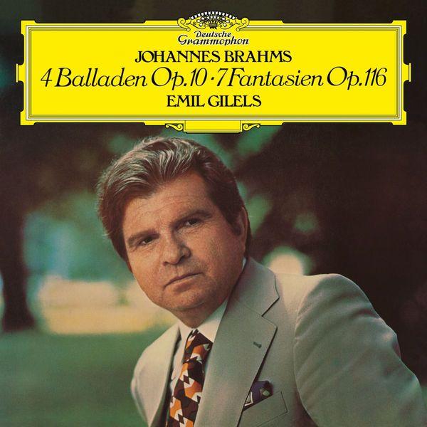цена Brahms BrahmsEmil Gilels - : 4 Ballades, 7 Fantasias в интернет-магазинах