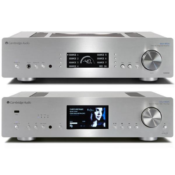 Сетевой проигрыватель Cambridge Audio Azur 851N + 851A Silver