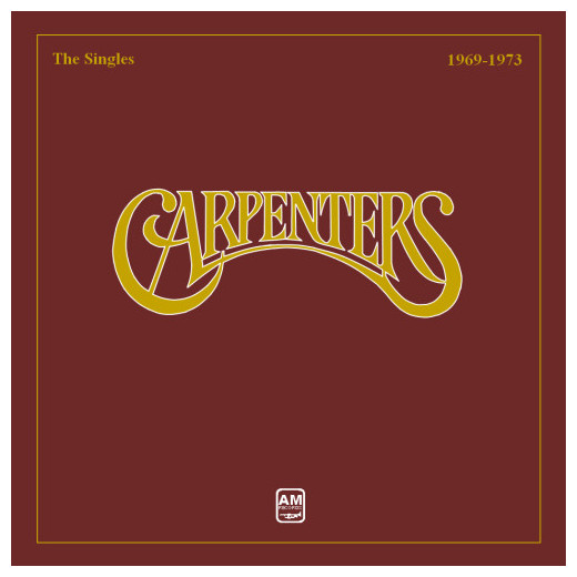 Carpenters Carpenters - The Singles 1969 - 1973 the carpenters the carpenters carpenters with the royal philharmonic orchestra 2 lp
