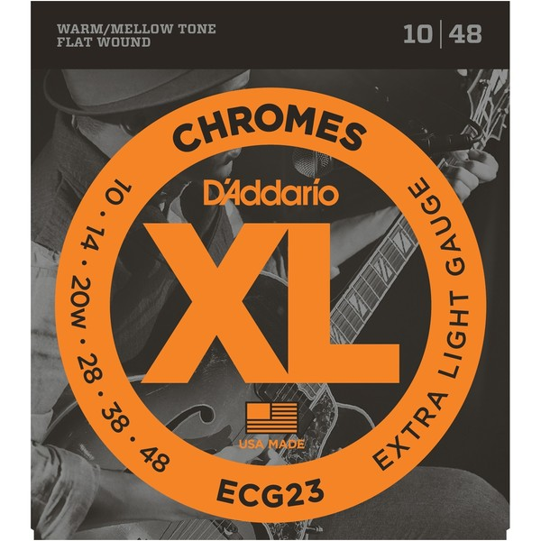 Гитарные струны D'Addario ECG23 (для электрогитары) струны для электрогитары d addario exp120 coated 9 42