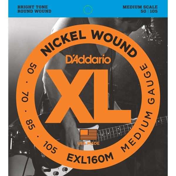 Гитарные струны D'Addario EXL160M (для бас-гитары) гитарные струны d addario exl160m для бас гитары