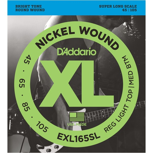 Гитарные струны D'Addario EXL165SL (для бас-гитары) гитарные струны d addario exl170 для бас гитары