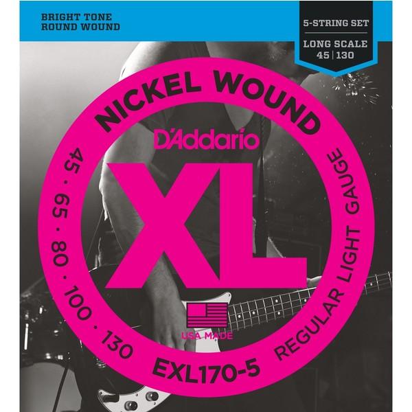 Гитарные струны DAddario EXL170-5 (для бас-гитары)