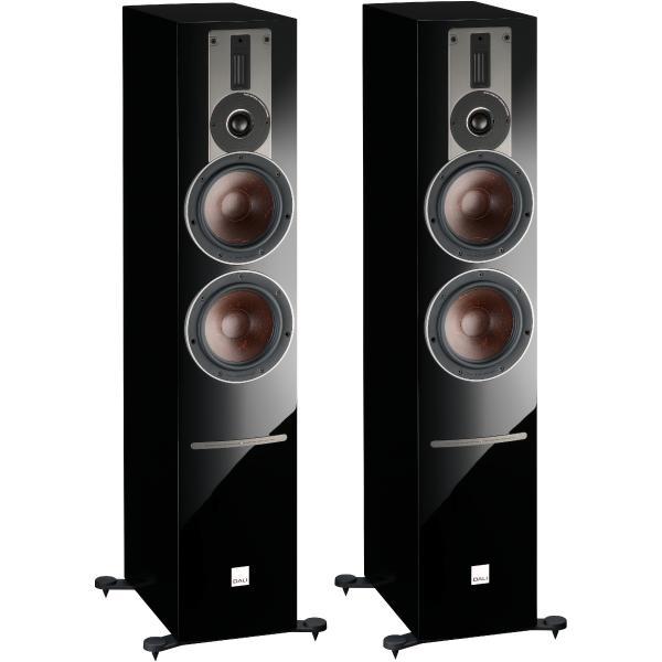 Активная напольная акустика DALI Rubicon 6 C High Gloss Black + BluOS Sound HUB Module