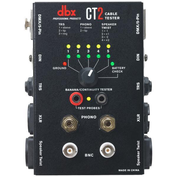 Аксессуар для концертного оборудования dbx Тестер кабелей CT2