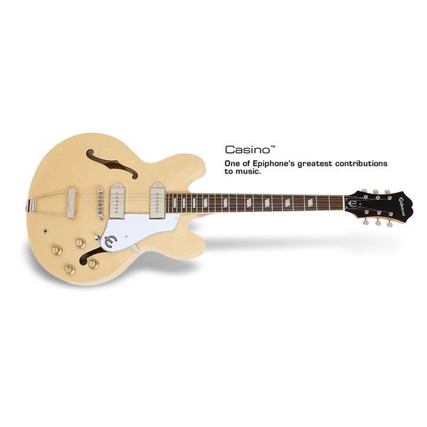 Гитара полуакустическая Epiphone CASINO NATURAL цена и фото