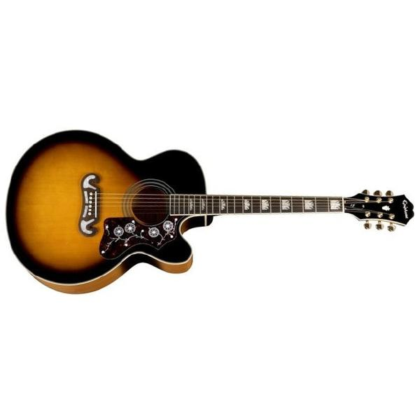 Гитара электроакустическая Epiphone EJ-200CE VINTAGE SUNBURST GLD
