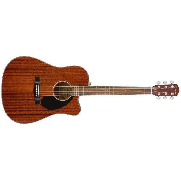 Гитара электроакустическая Fender CD-60SCE Dreadnought ALL-MAH WN fender f1000ce dreadnought natural