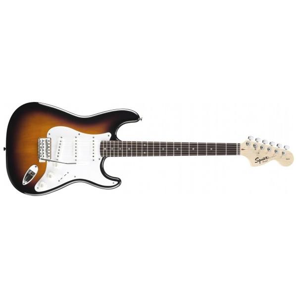 Электрогитара Fender Squier Affinity Stratocaster RW Brown Sunburst электрогитара fender squier bullet strat tremolo hss rw arctic white