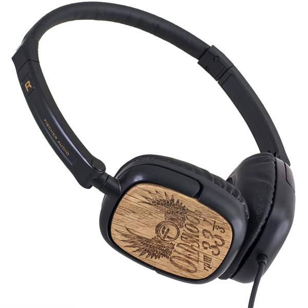 Накладные наушники Fischer Audio Oldskool 33 1/3 Wood