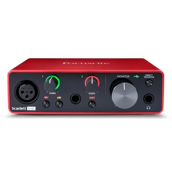 Внешняя студийная звуковая карта Focusrite Scarlett Solo 3rd Gen внешняя студийная звуковая карта focusrite red 16line thunderbolt 3