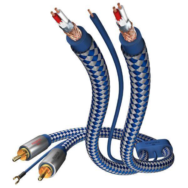 Кабель межблочный аналоговый RCA Inakustik Premium Phono Cable 0.75 m