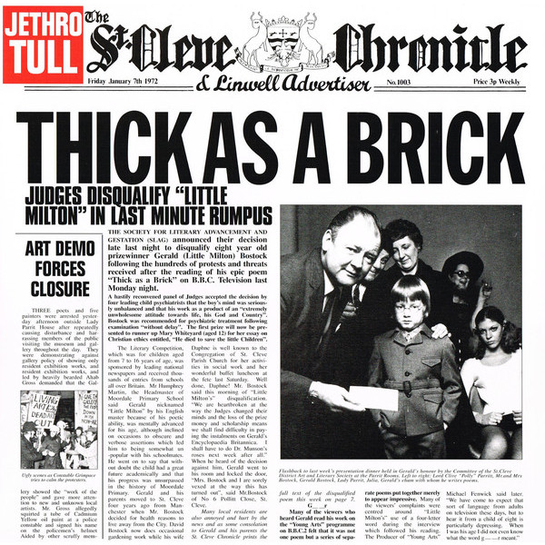 Jethro Tull Jethro Tull - Thick As A Brick jethro tull jethro tull 50th anniversary collection 180 gr
