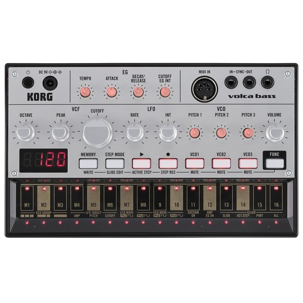 Синтезатор Korg Volca Bass korg volca bass analog bass machine electribe inspired sequencer for the ultimate bass lines