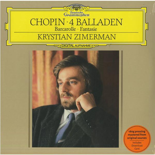 Chopin ChopinKrystian Zimerman - : Ballades, Barcarolle, Fantasie ingolf wunder chopin