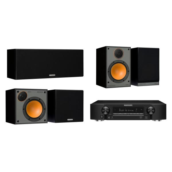 Комплект домашнего кинотеатра Monitor Audio Monitor 100 Black + Marantz NR1509 Black marantz m cr611 black