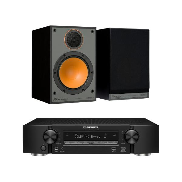 Полочная акустика Monitor Audio Monitor 100 Black + Marantz NR1509 Black
