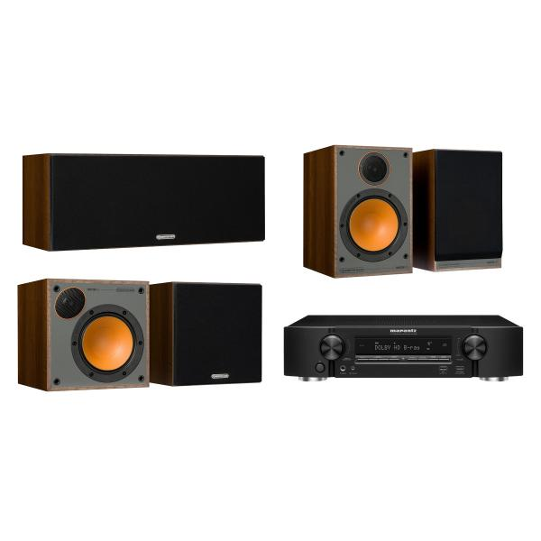 Комплект домашнего кинотеатра Monitor Audio Monitor 100 Walnut + Marantz NR1509 Black marantz m cr611 black