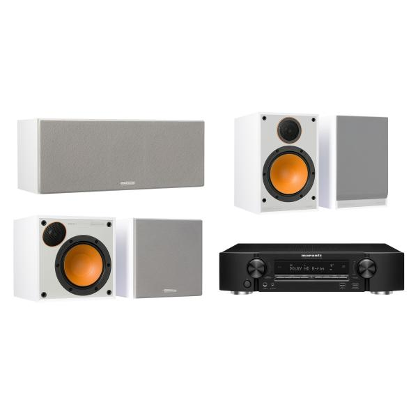 Комплект домашнего кинотеатра Monitor Audio Monitor 100 White + Marantz NR1509 Black marantz m cr611 black