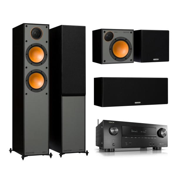 Комплект домашнего кинотеатра Monitor Audio Monitor 200 Black + Denon AVR-X2500H Black denon avr x1200w