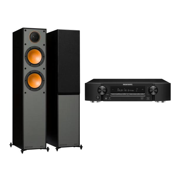 Напольная акустика Monitor Audio Monitor 200 Black + Marantz NR1509 Black marantz m cr611 black